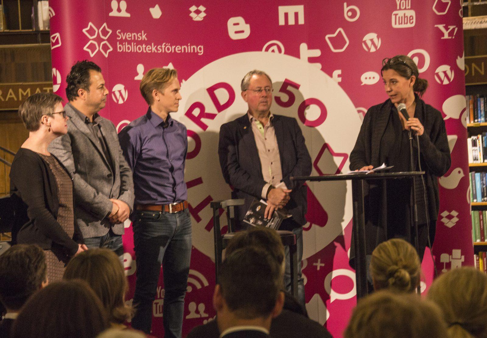Personalen Sätra bibliotek Gävle får Greta Renborgs pris