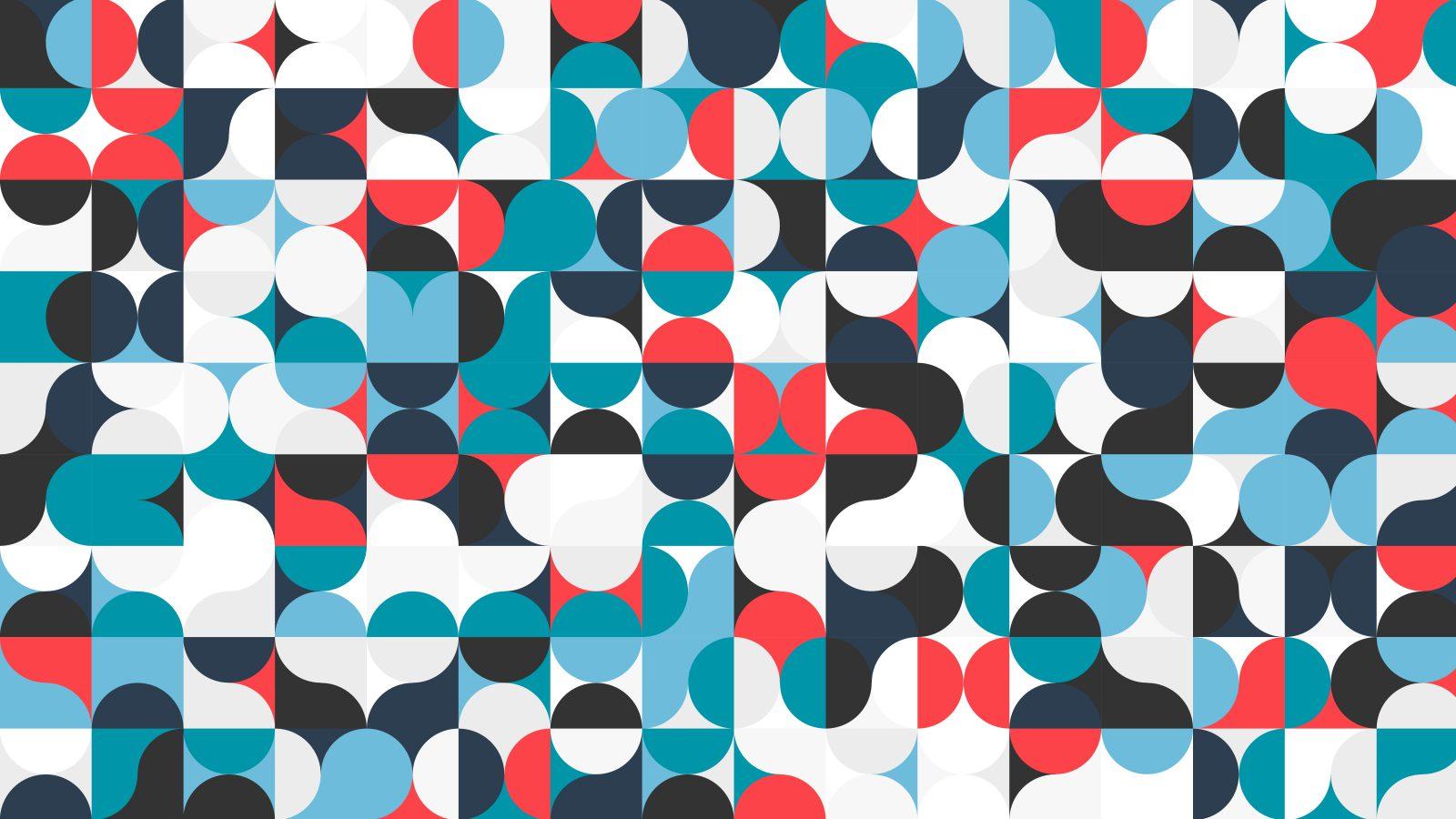 Grafiskt mönster med länk till information om Forskardagen