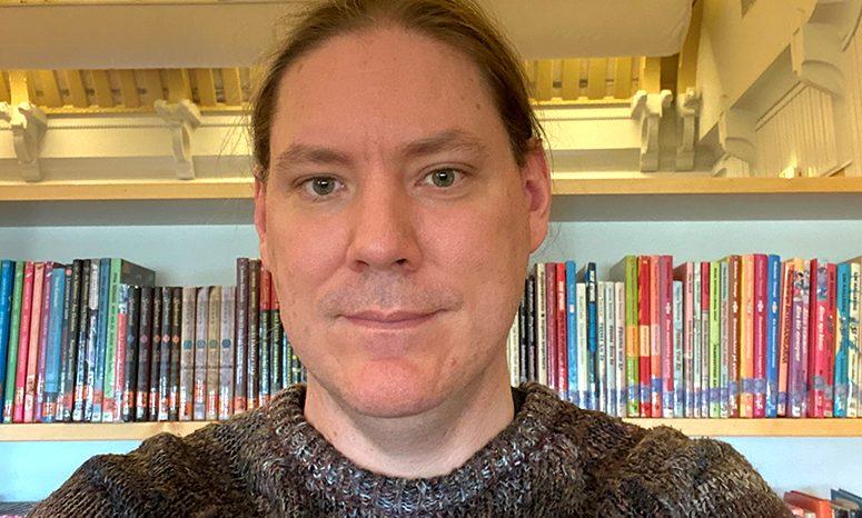 Ett porträttfoto av Eric Haraldsson